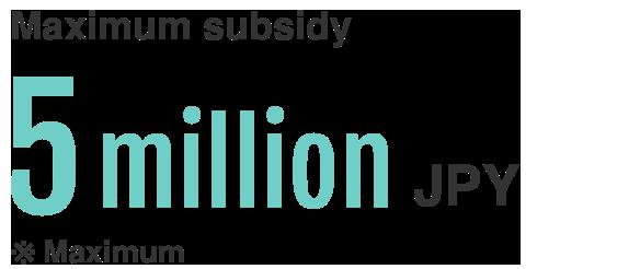 Maximum subsidy 15M JPY
